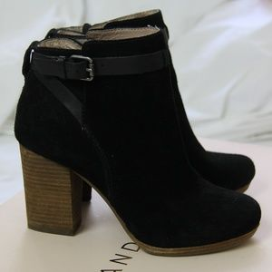 3053891f249 Madewell Black Suede Aimee Ankle Boots